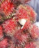 Fruto exótico do Rambutan de Indonésia 2 imagem de stock royalty free