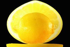 Fruto fresco do limão na fatia Imagens de Stock Royalty Free