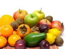 Fruto fresco maduro em um fundo branco Imagem de Stock Royalty Free