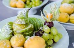 Fruto fresco na placa Imagem de Stock