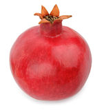 Fruto maduro da romã isolado no fundo branco Fotos de Stock