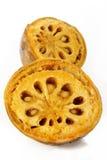 Fruto maduro do bael no branco Imagem de Stock Royalty Free