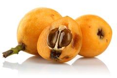 Fruto maduro do Loquat ou ameixa japonesa imagem de stock royalty free