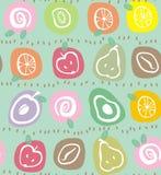 Fruto nos ovals Imagem de Stock