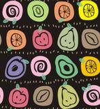 Fruto nos ovals Fotografia de Stock