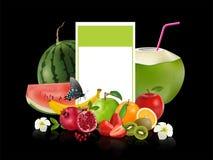 Fruto saudável criativo da mistura Apple, laranja, romã e quivi ilustração stock
