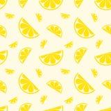 Fruto sem emenda do limão do teste padrão Ilustração do vetor Imagens de Stock Royalty Free