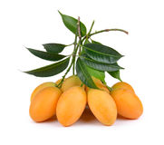 Fruto tailandês da ameixa mariana doce isolado no backgroun branco Foto de Stock Royalty Free