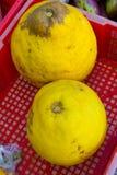 Fruto tropical desconhecido amarelo Imagens de Stock