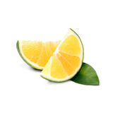 Fruto tropical: Isolado da laranja doce no fundo branco Imagens de Stock Royalty Free