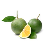 Fruto tropical: Isolado da laranja doce no fundo branco Fotos de Stock Royalty Free