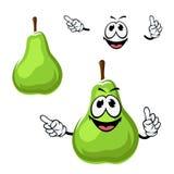 Fruto verde engraçado da pera dos desenhos animados Imagem de Stock