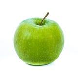 Fruto verde isolado da maçã fotografia de stock