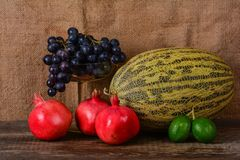 Frutos, ainda vida Imagem de Stock Royalty Free