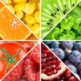 Frutos, bagas e vegetais da cor Foto de Stock
