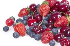 Frutos com cerejas Fotos de Stock