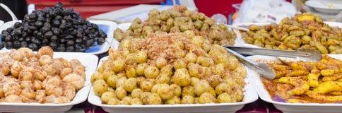 Frutos conservados, fruto de conserva no mercado local de Tailândia Imagens de Stock Royalty Free