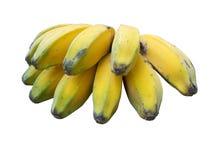 Frutos da banana sobre sobre o branco Imagens de Stock Royalty Free