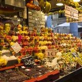 Frutos de Barcelona Boqueria Imagem de Stock Royalty Free