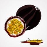 Frutos de Passionfruit Fotografia de Stock