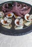 Frutos do alimento de dedo do mar com polvo Fotografia de Stock
