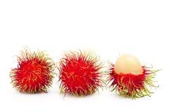 Frutos do Rambutan Fotos de Stock