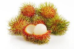 Frutos do Rambutan Imagens de Stock