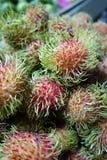 Frutos do Rambutan Foto de Stock