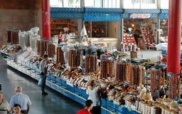 Frutos e doces secados no bazar do mercado de Yerevan, Armênia Fotos de Stock Royalty Free