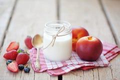 Frutos e leite foto de stock