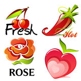 Frutos e plantas Foto de Stock