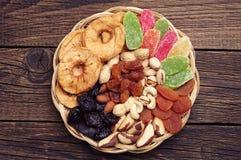 Frutos e porcas secados Imagens de Stock