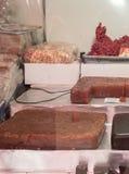 Frutos e porcas secados para a venda no mercado autêntico, ` máximo s Sri Lanka de Adam, o 15 de janeiro Foto de Stock Royalty Free