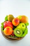 Frutos em um fundo branco imagem de stock