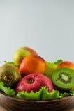 Frutos em um fundo branco imagem de stock royalty free