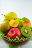 Frutos em um fundo branco foto de stock royalty free