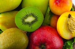 Frutos em um fundo branco Fotografia de Stock Royalty Free