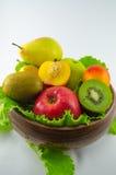 Frutos em um fundo branco Imagens de Stock Royalty Free