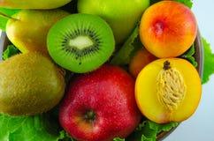Frutos em um fundo branco Fotos de Stock Royalty Free