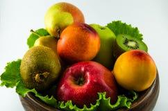 Frutos em um fundo branco Foto de Stock