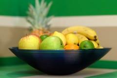 Frutos em uma bacia Imagens de Stock Royalty Free