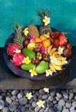 Frutos exóticos tropicais imagem de stock royalty free