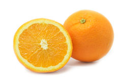 Frutos isolados das laranjas Imagem de Stock Royalty Free