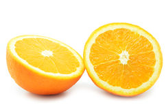 Frutos isolados das laranjas Fotos de Stock Royalty Free