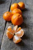 Frutos maduros da tangerina Fotos de Stock