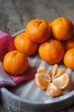 Frutos maduros da tangerina Fotografia de Stock Royalty Free