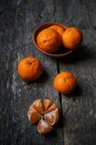 Frutos maduros da tangerina Imagem de Stock
