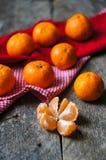 Frutos maduros da tangerina Fotos de Stock Royalty Free