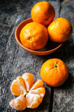 Frutos maduros da tangerina Fotografia de Stock