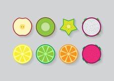 Frutos misturados da corrediça Foto de Stock Royalty Free